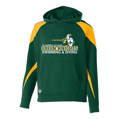 Snc Prospect Hoodie - Youth Small / Dark Green/gold - St. Norbert College