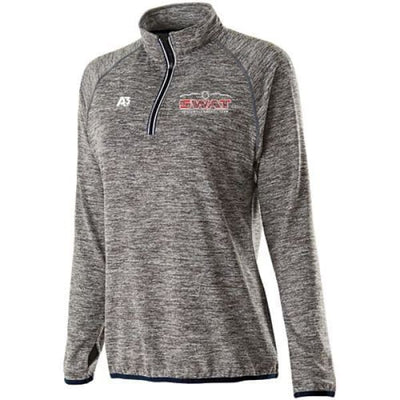 SWAT Force Pullover - CARBON HEATHER/NAVY - G26 / Ladies X-Small - Southwest Aquatic Team