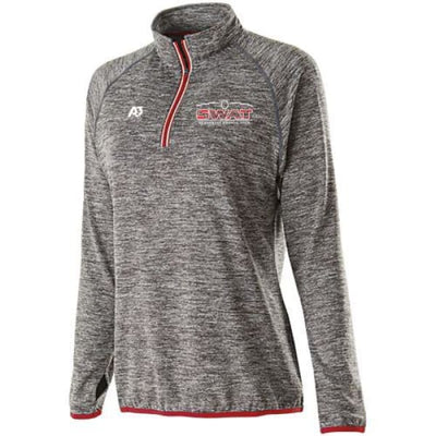 SWAT Force Pullover - CARBON HEATHER/SCARLET - C99 / Ladies X-Small - Southwest Aquatic Team