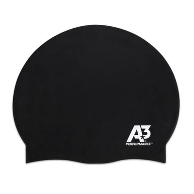Swimming Swan A3 Performance Silicone Ultra-Lite Cap - Black 100 - Swimming Swan