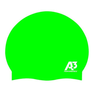 Swimming Swan A3 Performance Silicone Ultra-Lite Cap - Neon Green 849 - Swimming Swan