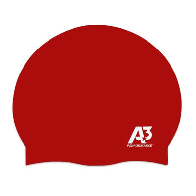 Swimming Swan A3 Performance Silicone Ultra-Lite Cap - Red 400 - Swimming Swan