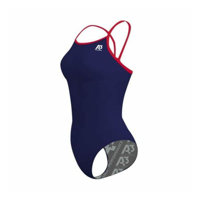 Team Contrast Female Xback - Navy/red 356 / 18 - Team Store