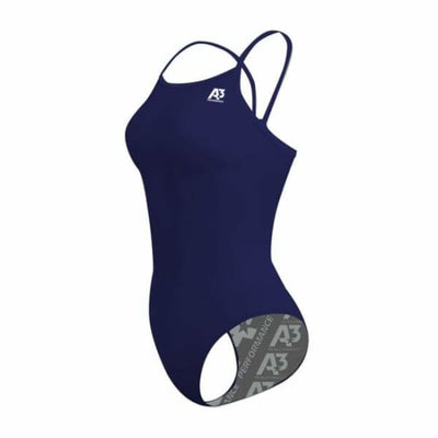 Team Solid Female Xback Swimsuit - Navy 350 / 18 - Team Store