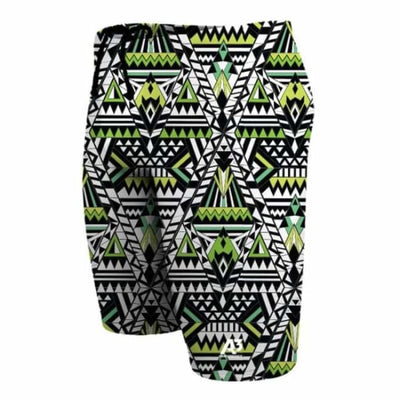 Team Tribal Geo Male Jammer Swimsuit - Green 800 / 18 - Team Store
