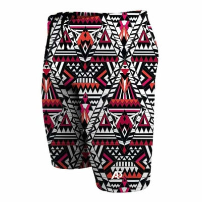Team Tribal Geo Male Jammer Swimsuit - Red 400 / 18 - Team Store