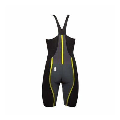 Team Vici Female Closed Back Technical Racing Swimsuit - Black/yellow 109 / 18 - Team Store