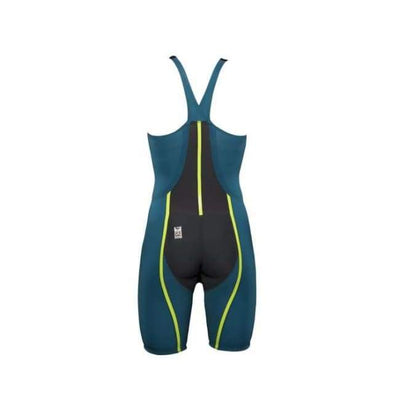 Team Vici Female Closed Back Technical Racing Swimsuit - Teal/yellow 859 / 18 - Team Store