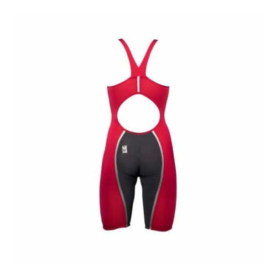 Team Vici Female Powerback Technical Racing Swimsuit - Red/silver 400 / 18 - Team Store