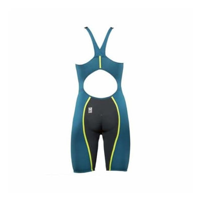 Team Vici Female Powerback Technical Racing Swimsuit - Teal/yellow 859 / 18 - Team Store