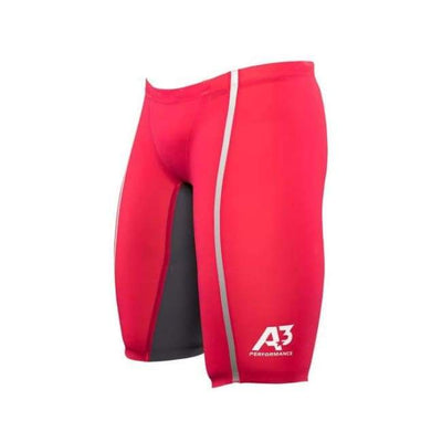 Team Vici Male Jammer Technical Racing Swimsuit - Red/silver 400 / 20 - Team Store