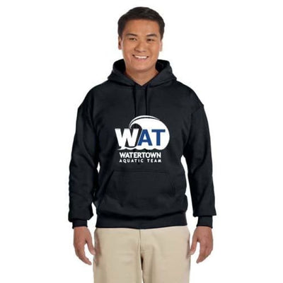 Wat Hoodie - Black / Adult Small - Watertown Aquatic Team