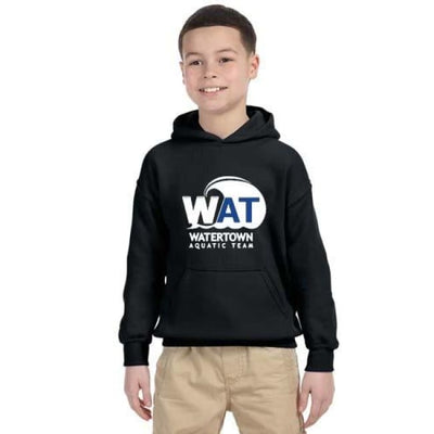 Wat Hoodie - Black / Youth Small - Watertown Aquatic Team