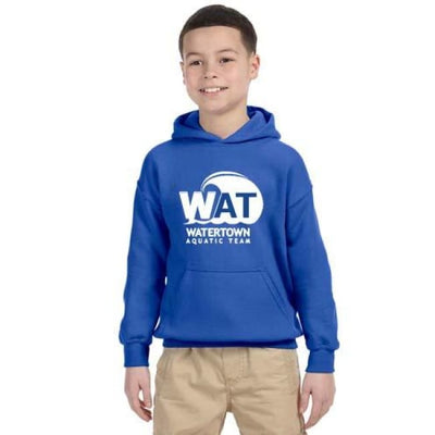 Wat Hoodie - Royal / Youth Small - Watertown Aquatic Team