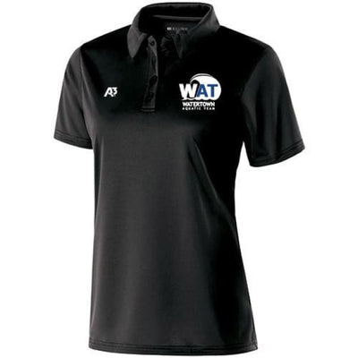 Wat Shift Polo - Black / Ladies X-Small - Watertown Aquatic Team