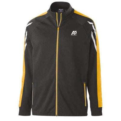 Flux Jacket - BLACK HEATHER/LIGHT GOLD/WHITE 878 / Small - Team Apparel
