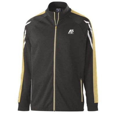 Flux Jacket - BLACK HEATHER/VEGAS GOLD/WHITE 875 / Small - Team Apparel