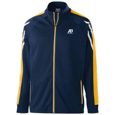 Flux Jacket - NAVY HEATHER/LIGHT GOLD/WHITE 887 / Small - Team Apparel