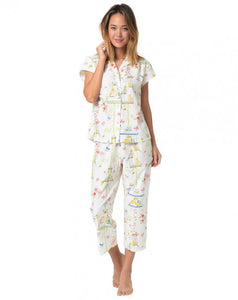 The Cat's Pajamas Lovebirds Poplin Capri Set
