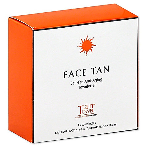 Face Tan, Self-Tan, Anti-Aging Towelettes (15)