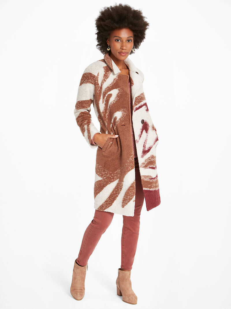 Abstract Waves Coat