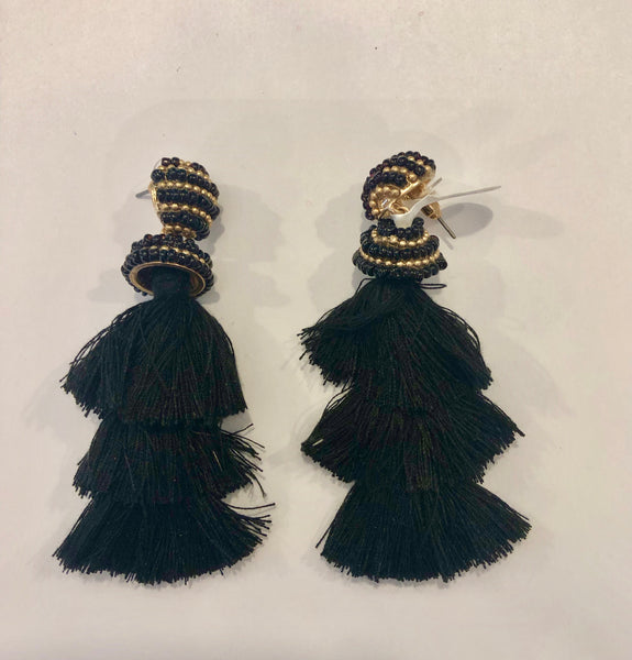 Pom-Pom Drop Dangle Earrings