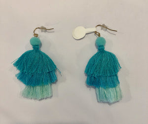 Three-Tiered Pom-Pom Earrings