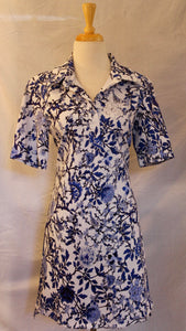 Cobalt Floral Dress (A49F)