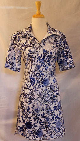 PA - Cobalt Floral Dress (A49F)