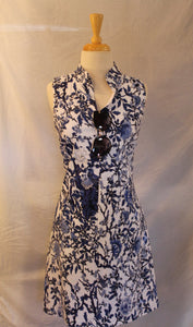 PA - Cobalt Floral Sleeveless Dress (A52F)