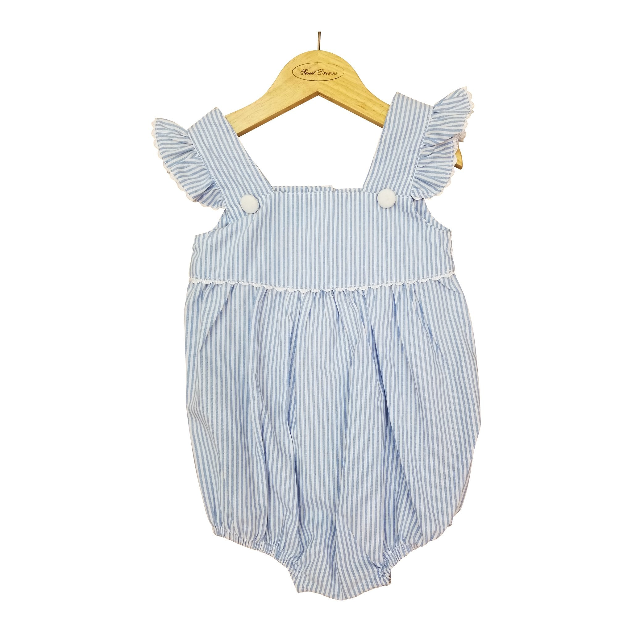 Blue Stripe Button Bubble
