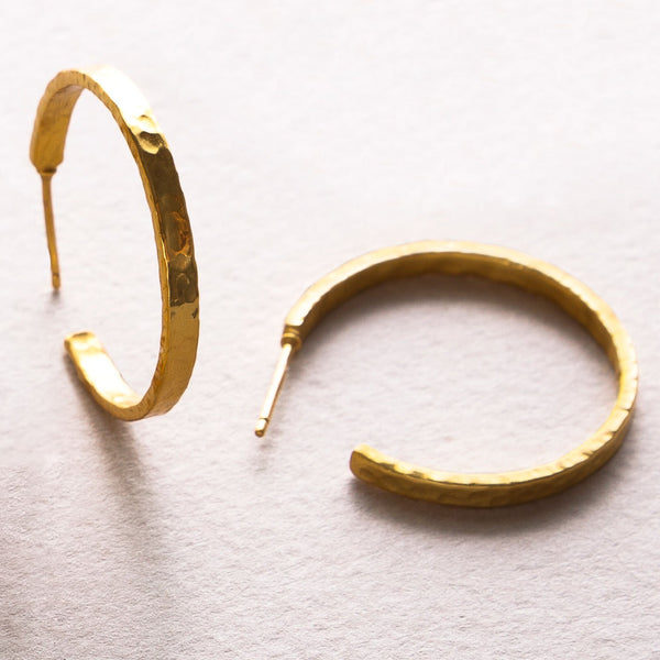 Crescent Hoop Gold Medium