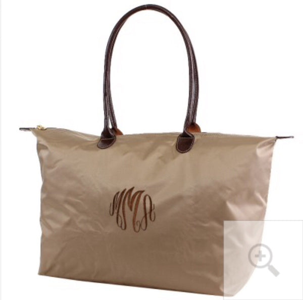 "21"" Nylon Tote Monogram Bag"