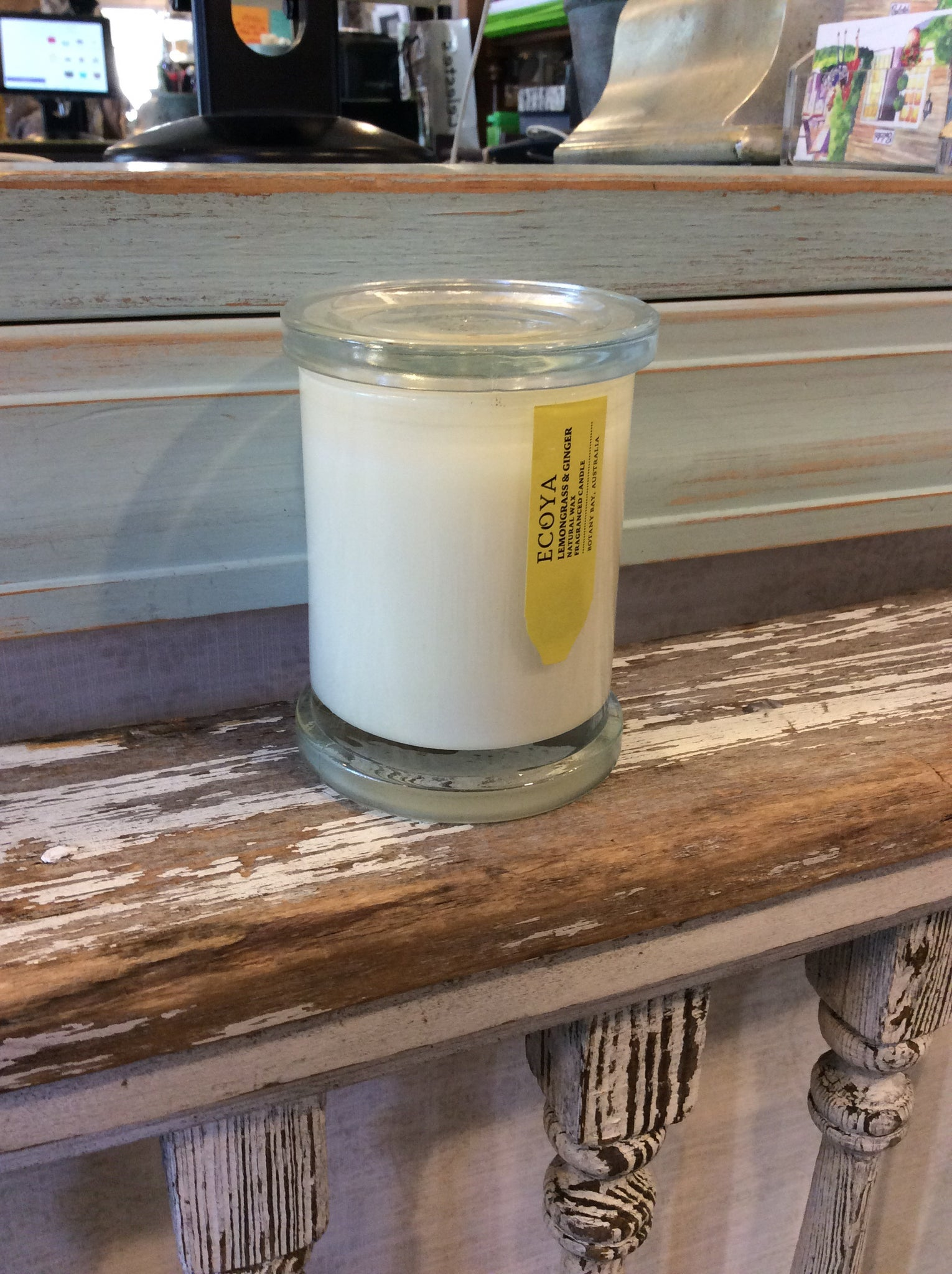 Ecoya Lemongrass and Ginger Natural Wax Fragranced Candle