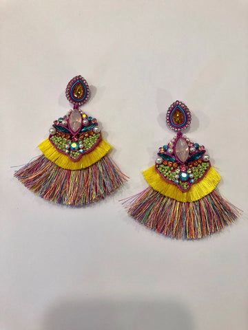 Gem & Fringe Earrings
