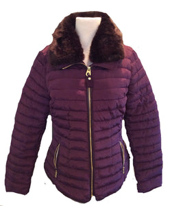 X-Gosfield Short Padded Coat w/ Faux Fur