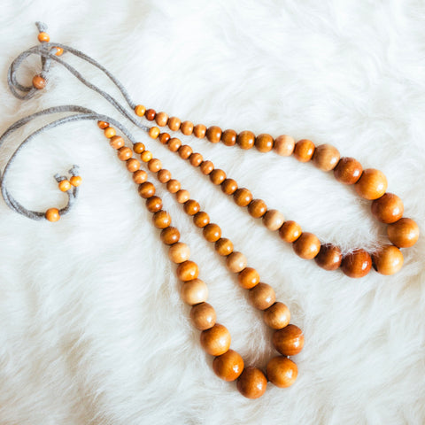 Long Natural Beaded Necklace