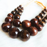 Layered Chocolate Beaded Necklace