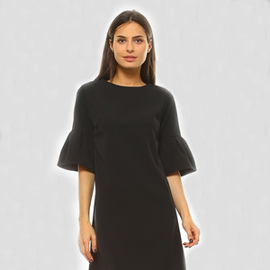 Shift Dress with Bell Sleeves