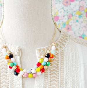 Three Strand Statement Necklace