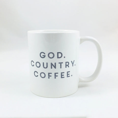 God. Country. Coffee. Statement Cups