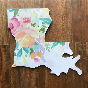 Louisiana Floral Watercolor Wall Art (Pastels)