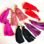 Blush Handmade Long Tassel Earrings