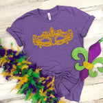 NEW! Mardi Gras Mask Tee