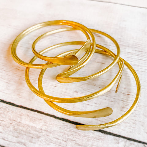 Boho Brass Bangle