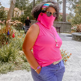 Sleeveless Cowl Mask Top