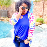 Royal Blue Keyhole Tunic
