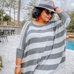 Charcoal/Gray Tunic Top
