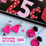 V-Day Earrings (2 pairs)