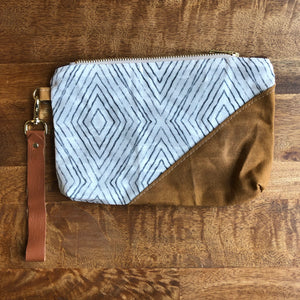 Infinite Diamonds Waxed Canvas Wristlet